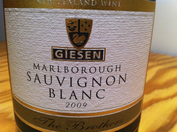 Giesen Marlborough Sauvignon Blanc 2009 (The Brothers)