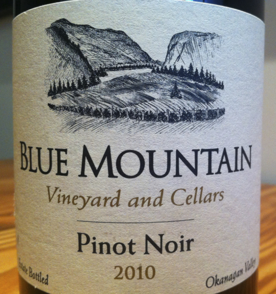 Blue Mountain Pinot Noir 2010