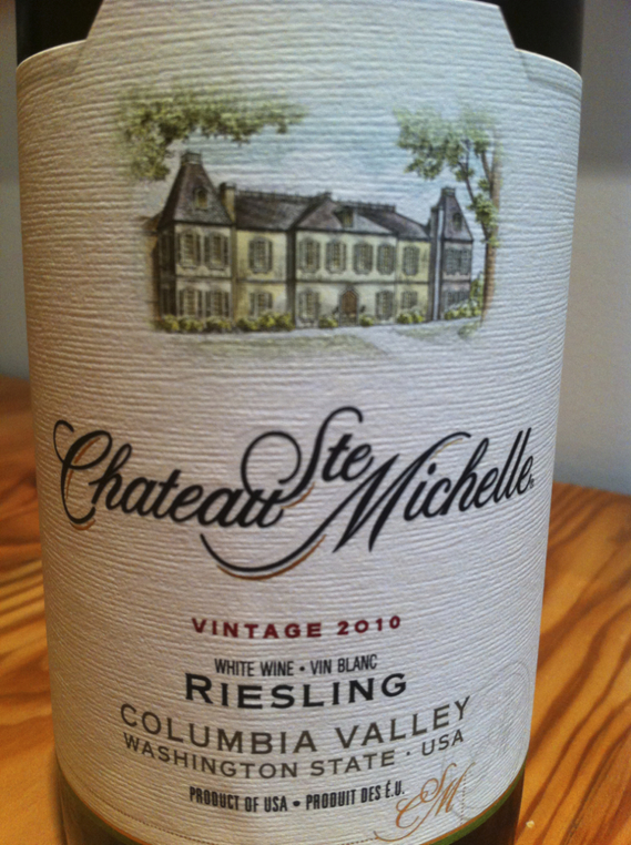 Chateau Ste. Michelle Riesling 2010