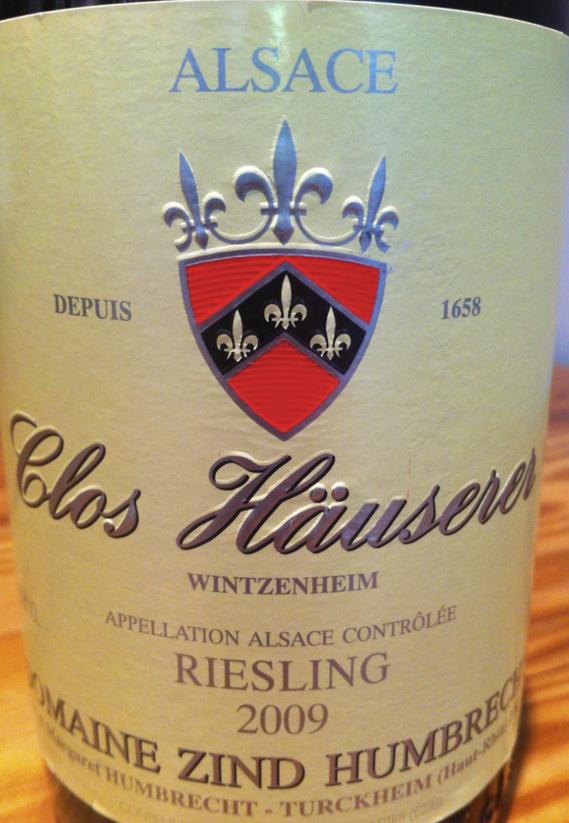 2009 Clos Häuserer Zind-Humbrecht Wintzenheim Riesling