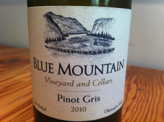 Blue Mountain Pinot Gris 2010