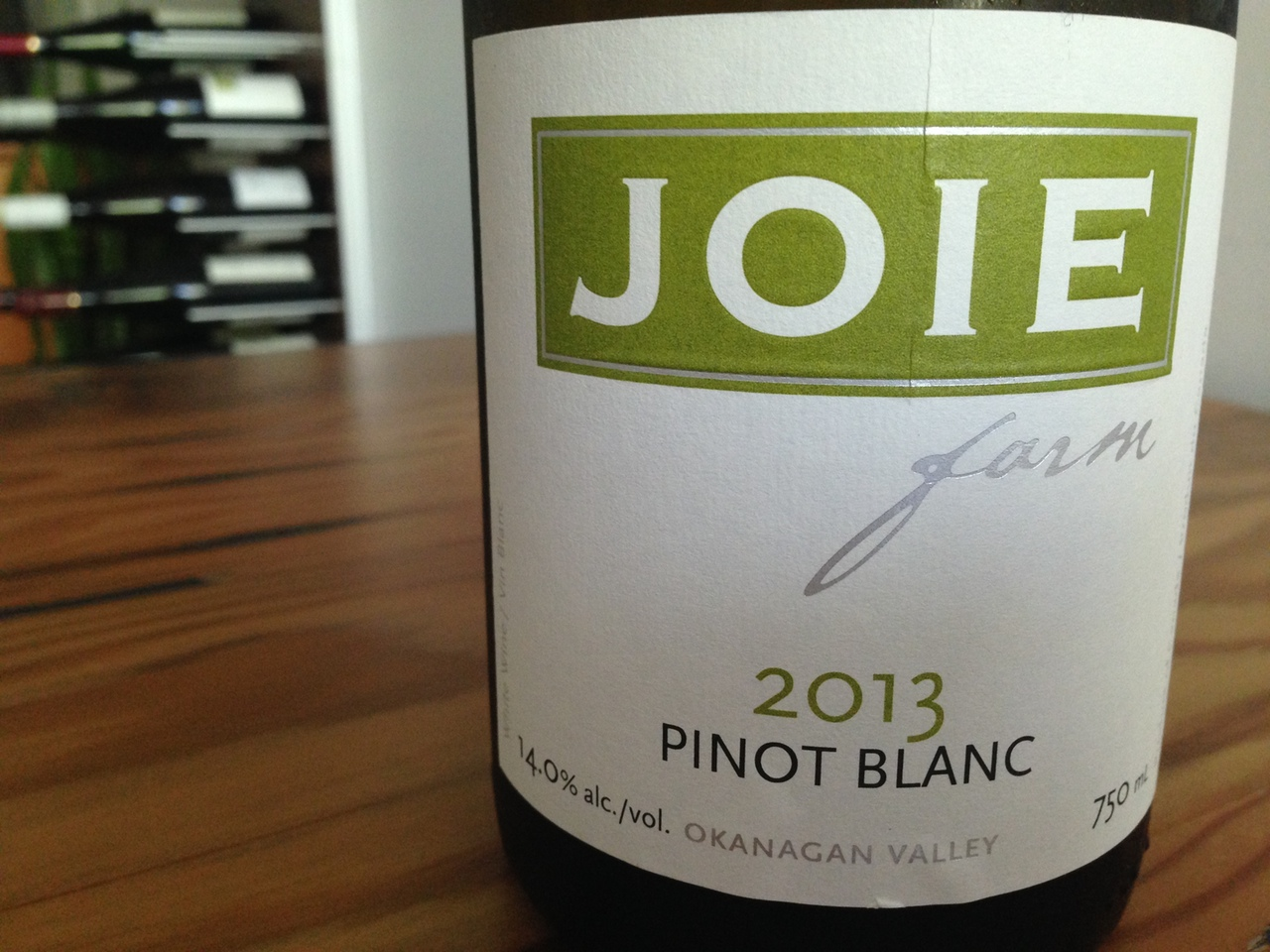 Joie Pinot Blanc 2013